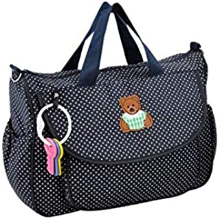 Cotton Baby Diaper Shoulder Bag Mummy Handbag with Coin Purse Changing Pad Liner Feeding Bottle Container Large Capacity