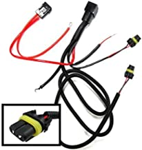 iJDMTOY 9005 9006 9145 H10 Relay Wiring Harness For Xenon Headlight Kit, Add-On Fog Light, LED DRL