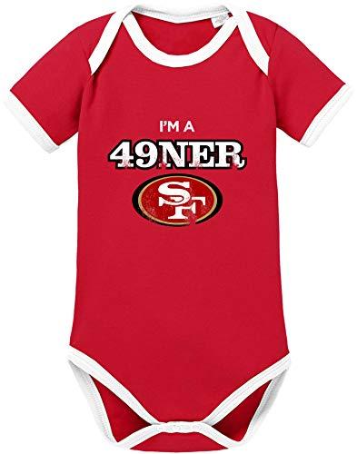 EZYshirt® I am a 49 | American Football Baby Body Kurzarm Bio Baumwolle