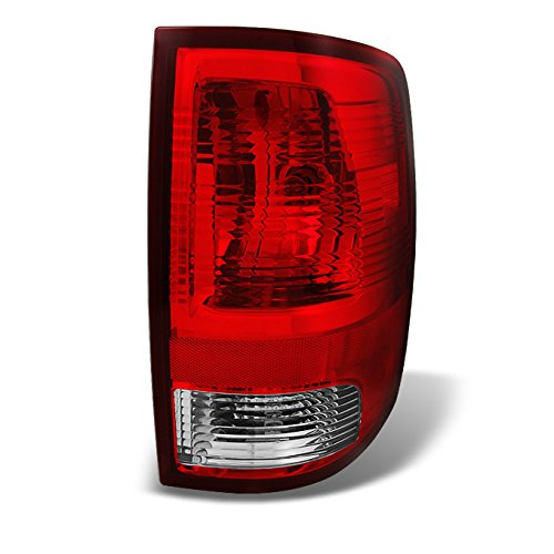 For 2009-2018 Dodge Ram Pickup Truck Red Clear Tail Light Tail Lamp Brake Lamp Passenger Right Side Replacement