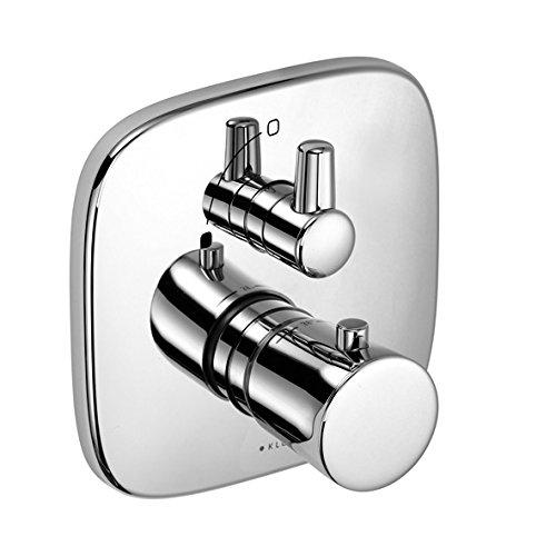 Kludi Fertigmontageset Amba für Unterputz Brause Thermostat mit Absperrventil, verchromt, 538350575