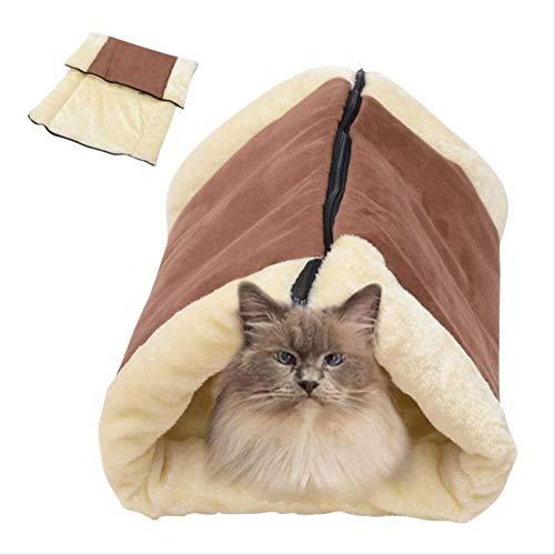 DC Wesley Cat Supplies Cat Sleeping Blanket Cat Tunnel Cat Sleeping Bag Kennel Cat Litter Pet Nest Dual-use Sleeping Bag Cat Toy