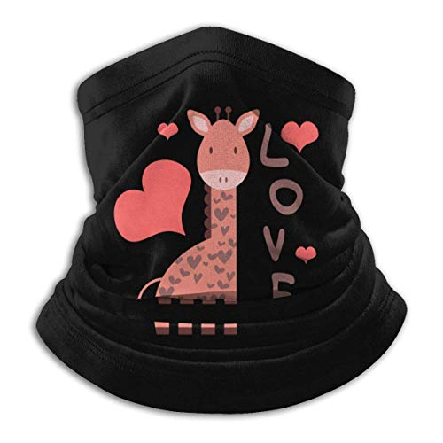XXWKer Microfibre Chapeaux Tube Masque Visage Tour de Cou Cagoule, Pink Giraffe Men's Women's Face Neck Warmer Head Wrap For Snowboarding