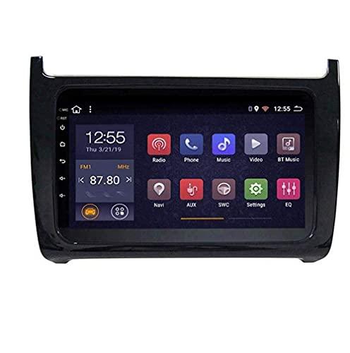 Radio de coche con navegación GPS Android 8.1, TV estéreo con pantalla táctil de 9 pulgadas, para VW Polo 2008-2018, con control del volante, Bluetooth, llamadas manos libres, Mirror Link DAB USB MP5