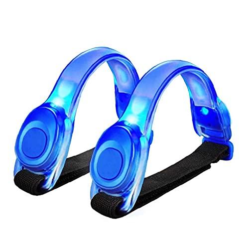 Liadance Brazalete de Silicona LED Luminoso brazaletes Ciclismo Running Brazo de los Deportes de la Correa para completar un Ciclo Dog Night Correr Correr Azul 2 Piezas