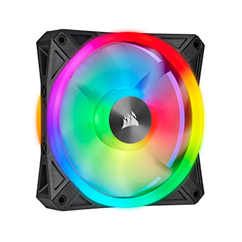 Corsair QL Series, Ql120 RGB, 120mm RGB LED Fan, Single Pack - Black