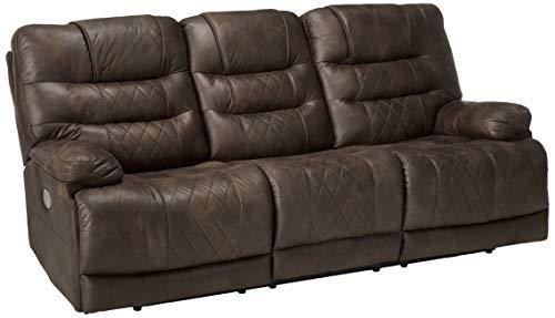 Signature Design by Ashley Welsford Power Reclining Sofa with Adjustable Headrest Walnut