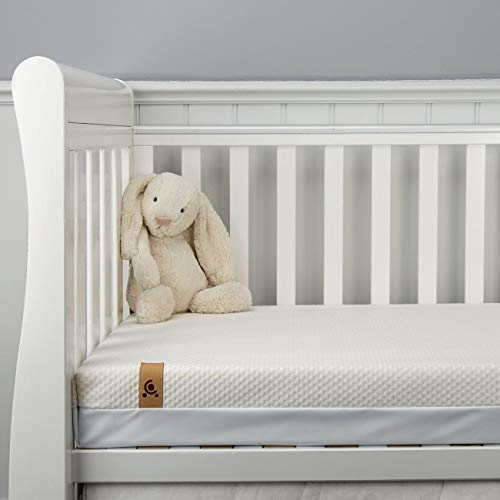 CuddleCo Lullaby Hypo-Allergenic Bamboo Foam Cot Bed Mattress 140 x 70cm