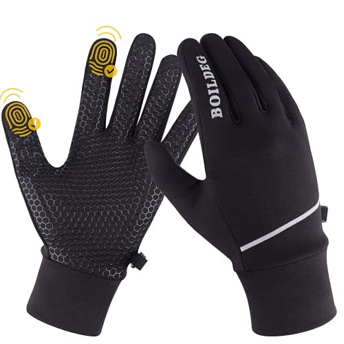 Boildeg Winter Warme Handschuhe, Touchscreen Winterhandschuhe für Herren Damen, wasserdichte Winddichte rutschfest Fahrrad Radsport Handschuhe, MTB Fahrradhandschuhe, Thermo Skihandschuhe