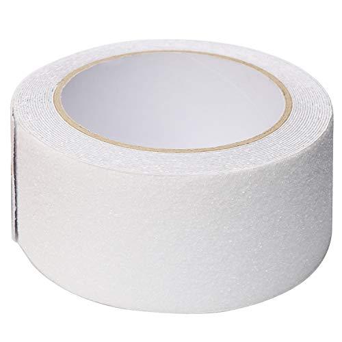 jlon すべり止め テープ 超強力ノンスリップテープ 滑り止めテープ のり残らず 耐水 転倒防止 屋外 屋内 階段 脚立 用(50mm x 長さ5m・クリア)