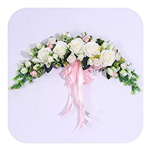 Artificial Flowers Decoration Vase, Wreath Door Threshold Flower DIY Wedding Home Living Room Party Pendant Wall Decor Christmas Garland Gift Rose Peony,D10
