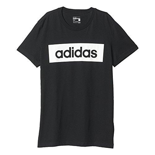adidas Lin tee Camiseta, Hombre, Negro/Blanco (Negro/Blanco), L