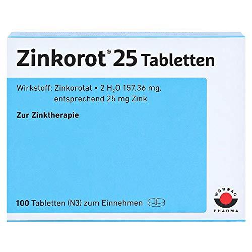 Zinkorot 25 Tabletten, 100 St. Tabletten