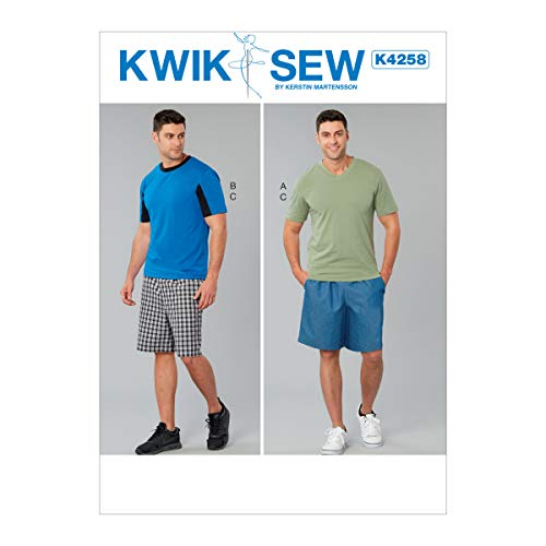 KWIK-SEW PATTERNS Kwik Boy's and Men's Shirt and Shorts Sewing Patterns by Kerstin Martensson, Sizes S-XXL