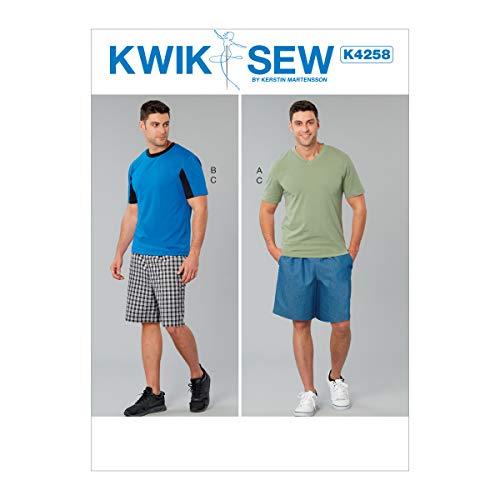KWIK-SEW PATTERNS Kwik Jungen und Herren Hemd und Shorts Schnittmuster von Kerstin Martensson, Größen S-XXL