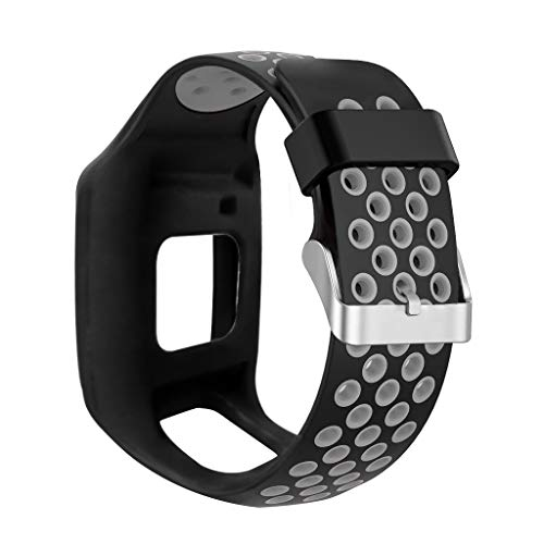 Sweo Correa de reloj de pulsera, a prueba de golpes, silicona suave, para Tom Tom 1, multideporte, GPS, HRM, CSS AM Cardio Runner
