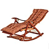 KYSZD-Rails d'aide au lit Tumbona Sillón reclinable Relajante Tumbona de bambú Tumbona Sillas de...
