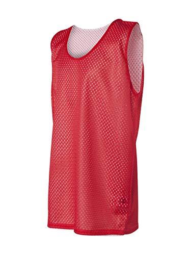 Badger Sport Red/White Youth Large Reversible Mesh Tank Top Jersey Uniform