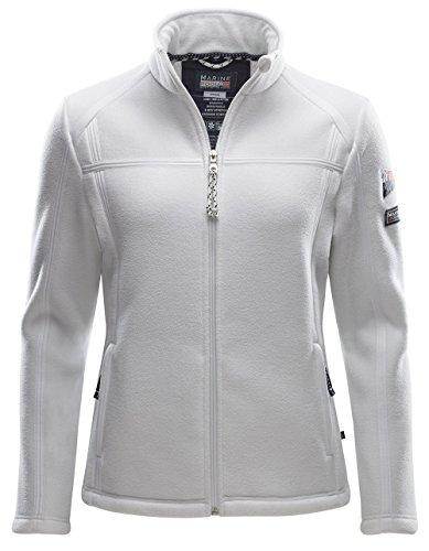 Marinepool Falkland II Fleecejacke Jacke Pullover Damen, Weiß XL