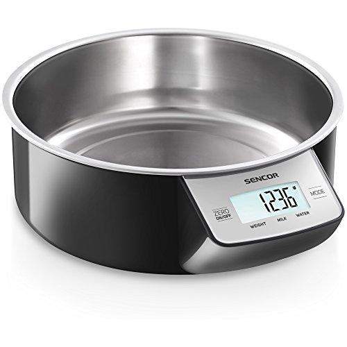 Sencor SKS 4030BK - Kitchen Scales (LCD, 40 x 18 mm, Black, Stainless Steel, AA, Stainless Steel, Stainless Steel)