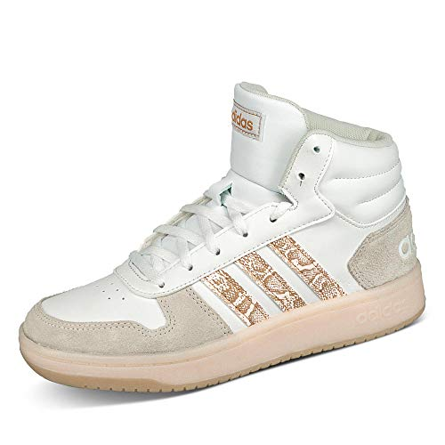adidas Damen Hoops 2.0 MID Sneaker, Ftwbla/Matros/Ormetr, 38 2/3 EU