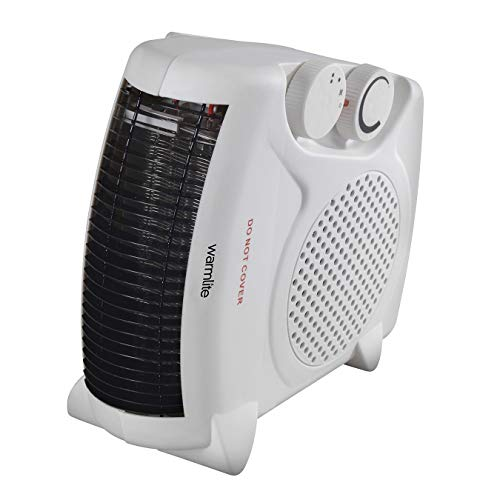 Warmlite WL44001 Thermo Fan Heater with 2 Heat Settings and Overheat...