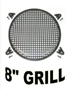 "American Terminal 8"" INCH WAFFLE SPEAKER SUB WOOFER METAL GRILLS WITH CLIPS AND SCREWS DJ-CAR-HOME"