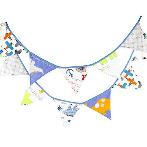 Outflower multicolores en coton lavable 12 fanions Joli motif fanions Bannière 3.2 m