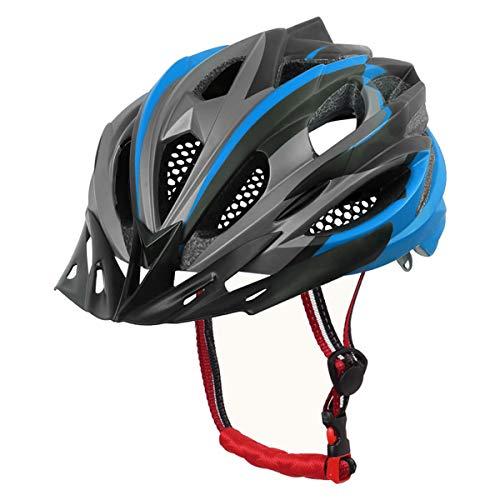 X-TIGER Casco da Bici,Ultraleggero Stabile Strada Montagna da Uomo Donna Ciclismo Casco di Bicicletta Casco Adulto Visiera Casco di Protezione Certificata CE-Blu