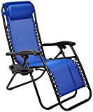 BalanceFrom Adjustable Zero Gravity Lounge Chair Recliners for Patio, Blue (BFYC-01BGD-Parent)