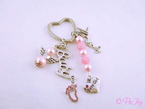Schlüsselanhänger Babygirl, zur Geburt oder als Geschenk für werdende Eltern, Mädchen