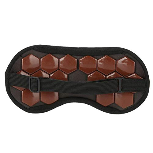 Jade-Augenmaske für Sport und Outdoor, beseitigt Müdigkeit, Magnettherapie, Augen-/Nackenmassagegerät, Sport, Fitness, Müdigkeit, Entspannung, Werkzeug (Farbe: Kaffeebraun)