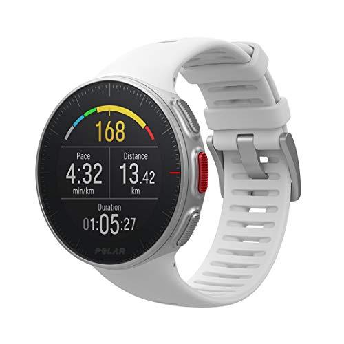 Polar Vantage V – Montre de Sport FC GPS Premium pour Hommes et Femmes avec Batterie Très Longue Durée – Entraînement Multisport et Triathlon (Cardiofréquencemètre, étanche)