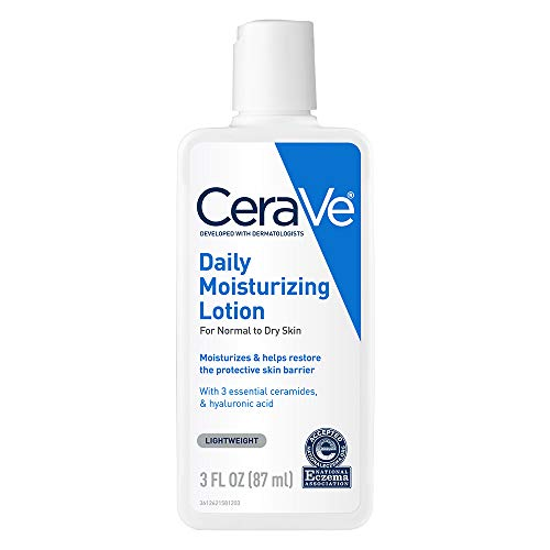 CeraVe Daily Moisturizing Lotion | 3 Ounce | Face & Body Lotion for Dry Skin with Hyaluronic Acid | Fragrance Free