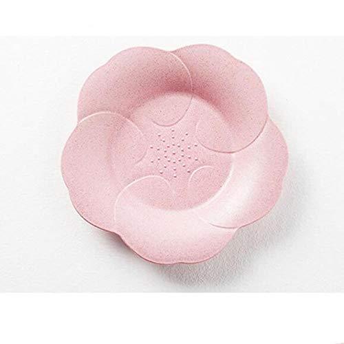 Heng Milieuvriendelijk Tarwestro Snoep Kleur Bloemblaadje Fruitschaal Woonkamer Tafel Snoep Snoepjes Dessert Fruitschaal, roze