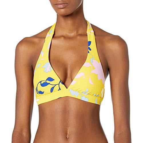 Seafolly Damen Halter Bra Bikini Top Swimsuit Bikinioberteil, Florenz Sonnenblume, 38