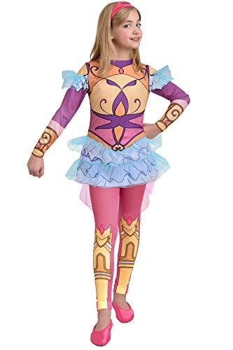 Ciao-Rose Cinderella Armatura costume Regal Academy bambina, 8-10 anni, Rosa, Giallo, Azzurro, 11194.8-10