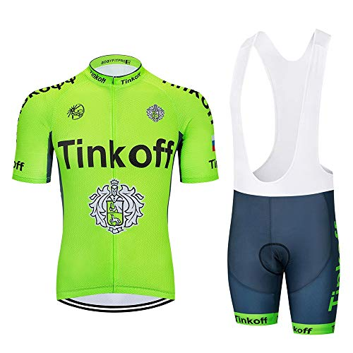 STEPANZU Body Tuta Abbigliamento Ciclismo Uomo Set Estivo Bici Maglia Manica Corta e Pantaloncini Imbottiti