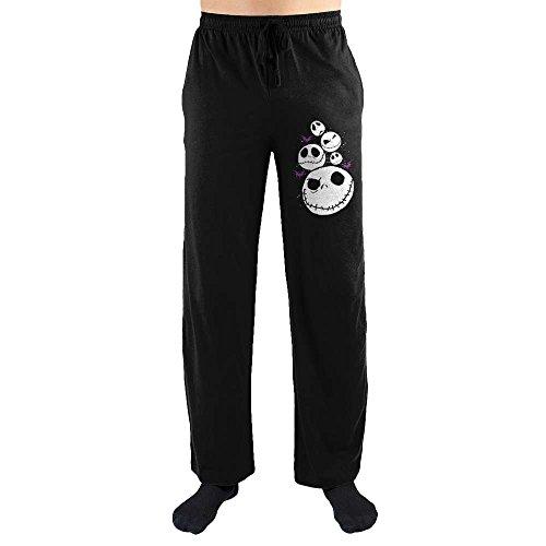 The Nightmare Before Christmas Jack Skellington Print Men's Lounge Pants Large