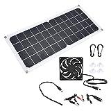 Gatuxe Tablero De Carga Solar, Kit De Panel Solar Portátil De 10 W, Salida USB De 5 V De Alta Eficiencia para Barcos, Coches para Emergencias, Aviones para Actividades Al Aire Libre
