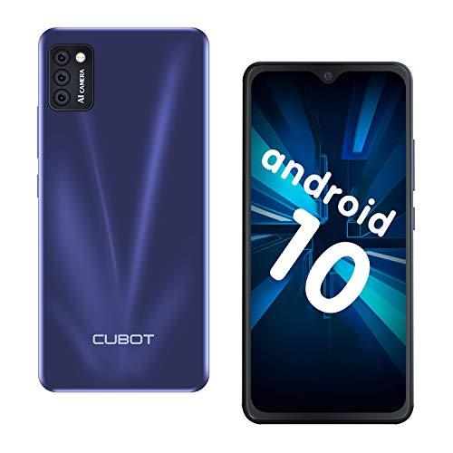 CUBOT Note 7 Smartphone ohne Vertrag, 4G Handy, 5.5″HD Display, Android 10, 3100mAh Akku, DREI Kameras, 2GB/16GB, 128GB erweitbar, Dual SIM, Deutsche Version, NFC, Face ID, Blau