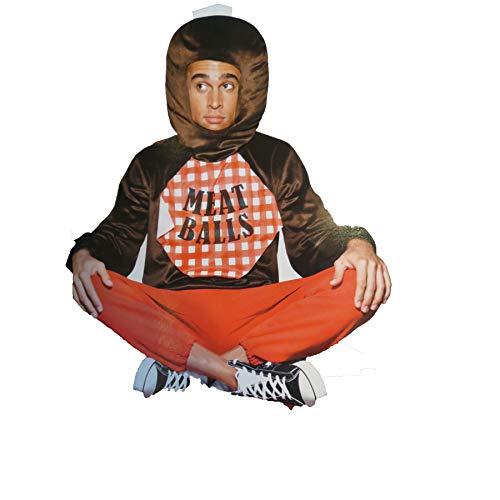 Meatball Spaghetti Adult Costume Shirt Headpiece Large