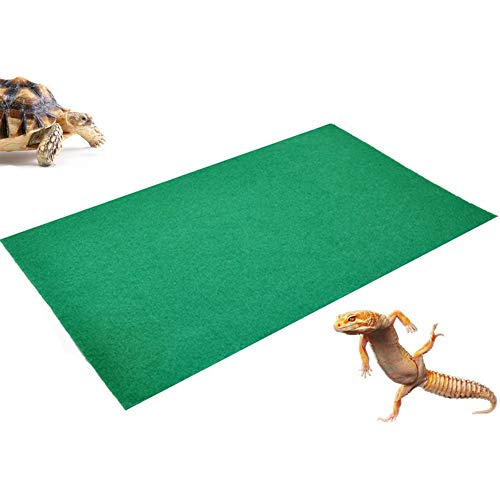 "47.2"" X 23.6"" Reptile Carpet Large Mat Substrate Liner Bedding Reptile Supplies for Terrarium Lizards Snakes Bearded Dragon Gecko Chamelon Turtles Iguana"
