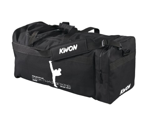 Kwon Trainingstasche Kick Thaiboxing, schwarz, 48 x 24cm, 5016004