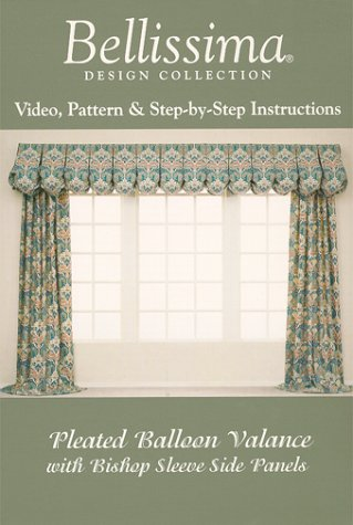 Pleated Balloon Valance With Bishop Sleeve Side Panels [VHS]