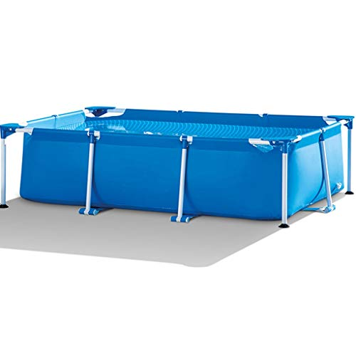 Aufblasbare Pools Schwimmbecken Bauen Sie Ein Einfaches Indoor-Kinderspielbecken Integrierter Pool Zur Haushaltsunterstützung Übergroßes Verdicktes Außenschwimmzentrum ( Color : Blue , Size : 9.8ft )