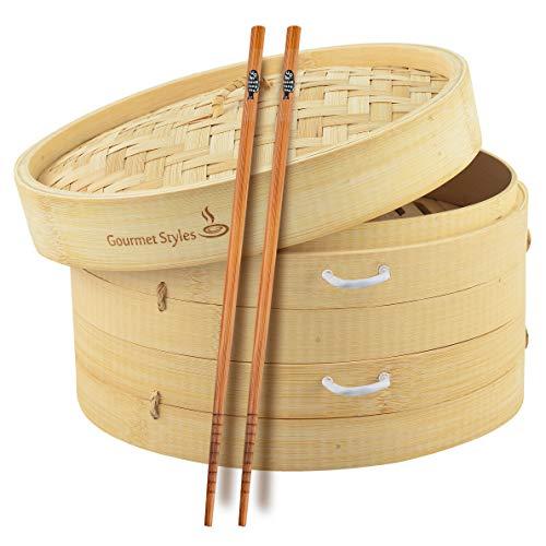 Gourmet Styles Bamboo Steamer
