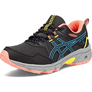 ASICS Women's Gel-Venture 8 Running Shoes, 8.5, Black/Digital Aqua