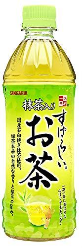サンガリア すばらしい抹茶りお茶 500ml×24本