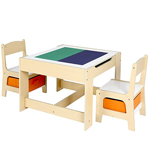 POTBY Kids Table and 2 Chair Set...